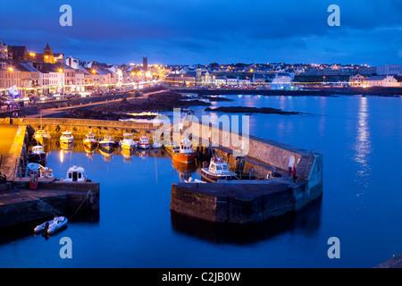 Portstewart at dusk, Co Derry, Northern Ireland. - Stock Photo