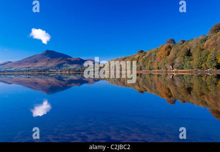 Autumn reflection of Muckish Mountain, County Donegal, Ireland. - Stock Photo