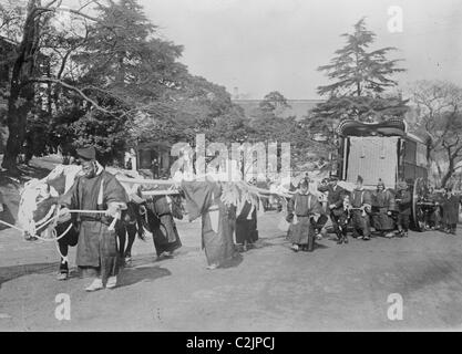 Funeral Cortege for Japanese Emperor Mutsuhito - Stock Photo