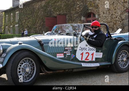morgan plus 4 sports racing car in trophy race at oulton park motor stock photo royalty free. Black Bedroom Furniture Sets. Home Design Ideas