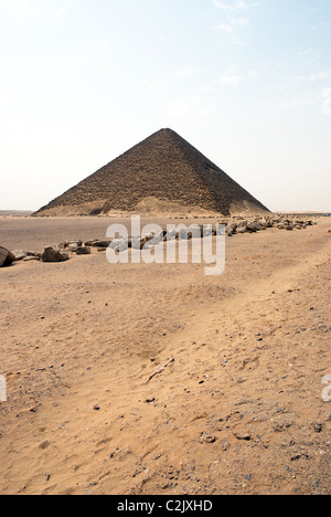 Snofru's Red Pyramid - Royal necropolis of Dahshur, Lower Egypt - Stock Photo