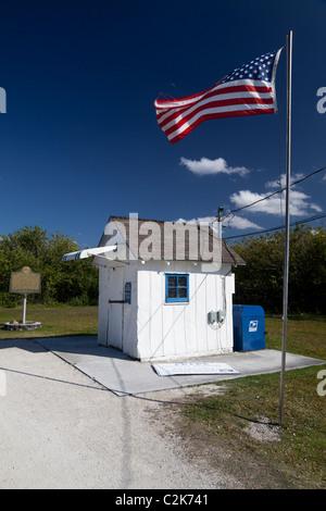 Ochopee Post Office on the Tamiami Trail, Everglades, Florida, USA - Stock Photo