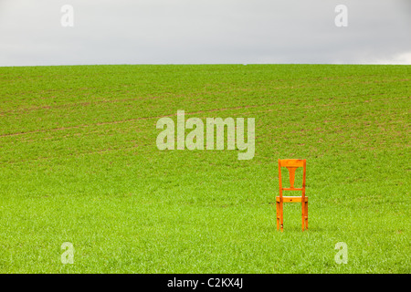 ... The restless chair on the corn field - Stock Photo & The restless chair on the corn field Stock Photo: 35917045 - Alamy