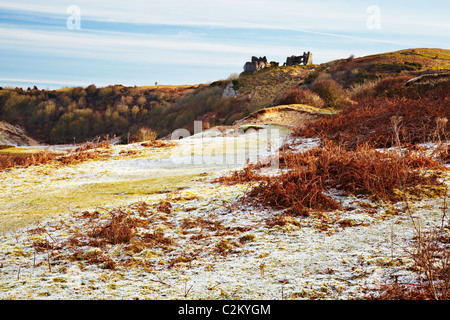 Pennard Castle, Pennard Burrows, Three Cliffs Bay, Gower, Wales - Stock Photo