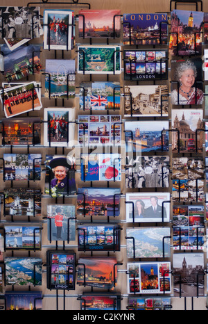 London postcards for sale. 2011. - Stock Photo