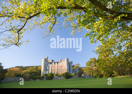 The Scottish baronial Castle at Castlewellan Forest Park, County Down, Northern Ireland. - Stock Photo