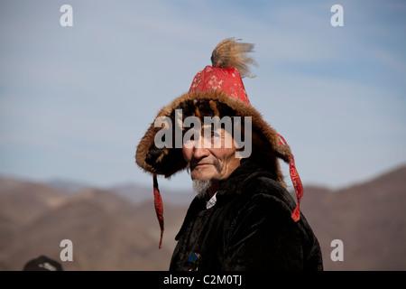 Mongolian Kazakh Eagle Festival,  Bayan-Olgii Aimag, Mongolia - Stock Photo