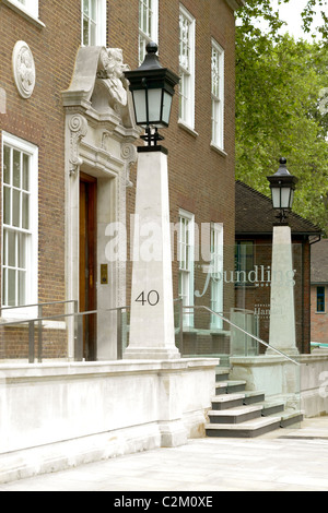 The Foundling Museum, London. Entrance. Refurbishment and extension by Jestico + Whiles. - Stock Photo