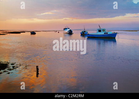 High tide at Penclawdd, Gower, Wales - Stock Photo