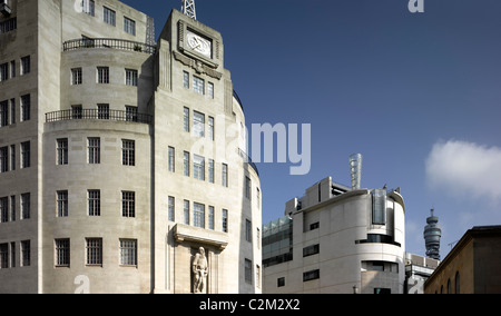 BBC Broadcasting House, Portland Place, London. - Stock Photo