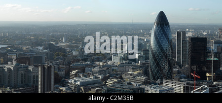 London Panorama looking South East from the city, London. - Stock Photo