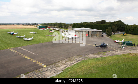 Tatenhill Airfield in Staffordshire UK - Stock Photo