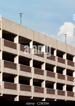 Reinforced concrete multi storey car park in the Broadmarsh Centre Nottingham England UK - Stock Photo
