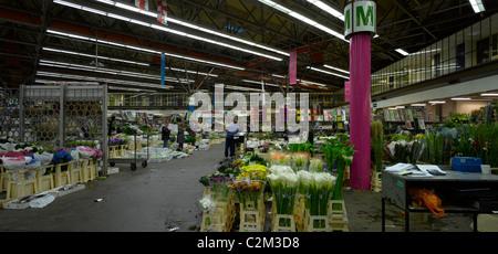New Covent Garden Flower Market, Nine Elms, London. - Stock Photo