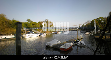 River Thames, Teddington Lock, London. - Stock Photo