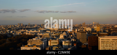 Panorama looking east from Victoria, London. - Stock Photo
