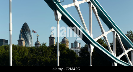 Tower Bridge, London, 1894 - Stock Photo