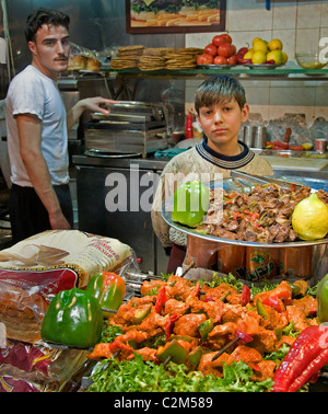 Aleppo  Bazaar Souk Souq market  Town City Syria Syrian Middle East fast food - Stock Photo