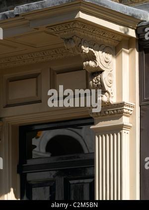 Georgian housing detail, Spitalfields, London. - Stock Photo