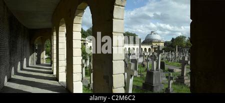 Brompton Cemetery, Kensington, London. - Stock Photo