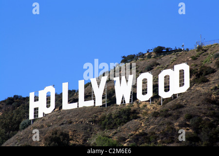 THE HOLLYWOOD SIGN LOS ANGELES USA 10 December 2010 - Stock Photo