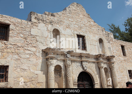 The Alamo in San Antonio, Texas - Stock Photo