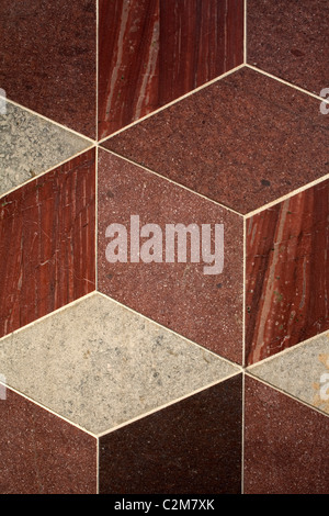 Museum of Childhood Extension, Bethnal Green, London. Marble and granite detail. - Stock Photo