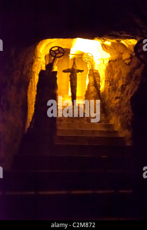 BUDA CASTLE LABYRINTH and the various works of art that can be found within it - Stock Photo