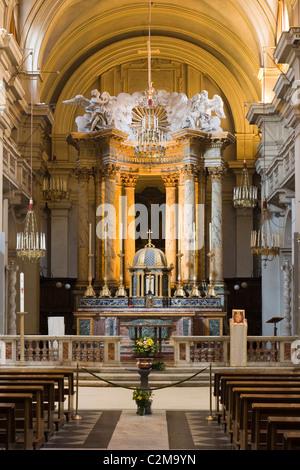 Interior of Trinita dei Monti, Rome, Italy. - Stock Photo