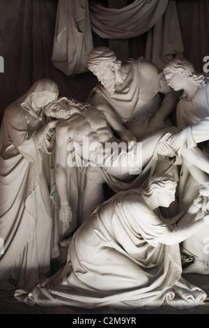 Deposition by Daniele da Volterra in a side chapel. Trinita dei Monti, Rome, Italy. - Stock Photo