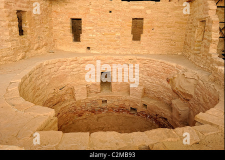 Spruce Tree House, cliff dwelling in Mesa Verde National Park - Stock Photo