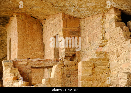 Dwellings in Balcony House, cliff dwelling in Mesa Verde National Park