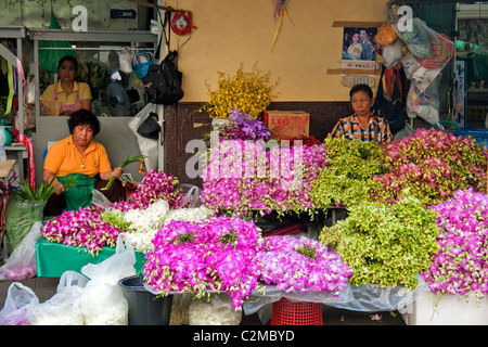 Street Market And Stalls Selling Fresh Fruit And Vegetable