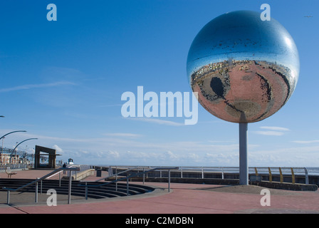 'They Shoot Horses, Don't They?' The Mirror Ball along the South Shore Promenade, Blackpool. - Stock Photo