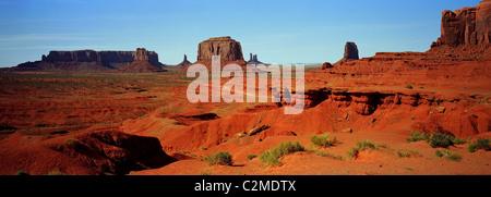 Monument Valley, Colorado Plateau, Arizona. - Stock Photo