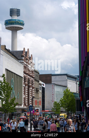 Liverpool One Shopping Area, Liverpool, Merseyside, England - Stock Photo