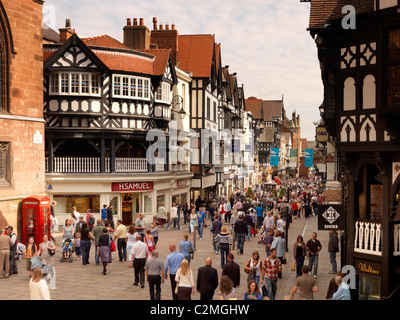 Northgate and Eastgate Row, Chester - Stock Photo