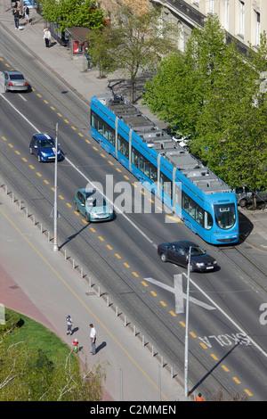 Zagreb traffic in Savska street - Stock Photo