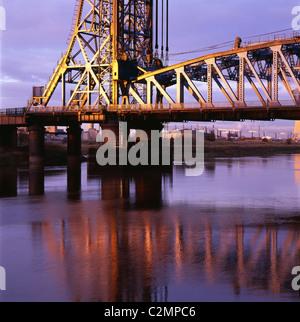 Newport Bridge River Tees Middlesborough - Stock Photo
