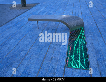 Laing Art Gallery Square, Newcastle- Seating - Stock Photo