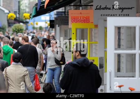 Bicester Village, leading Designer outlet shopping destination . Bicester. Oxfordshire, England. - Stock Photo
