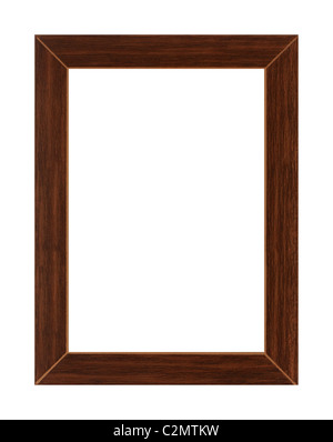 wooden picture frame - high resolution frame - Stock Photo