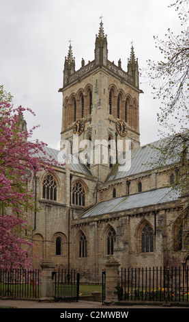 Selby Abbey viewed from Abbey Place to the north west - Stock Photo