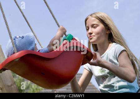 Teenage mum - Stock Photo