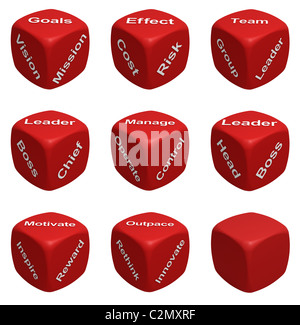 Red Dice Collection with words devoted to Management - Stock Photo