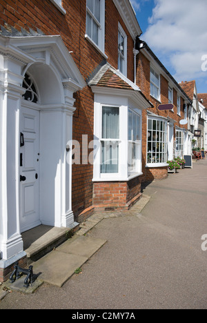 Victorian houses Lavenham Suffolk UK - Stock Photo