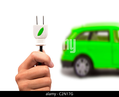 Electric car and green car concept - Stock Photo
