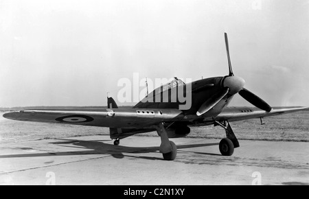 Hawker Hurricane is a British single-seat fighter aircraft - Stock Photo