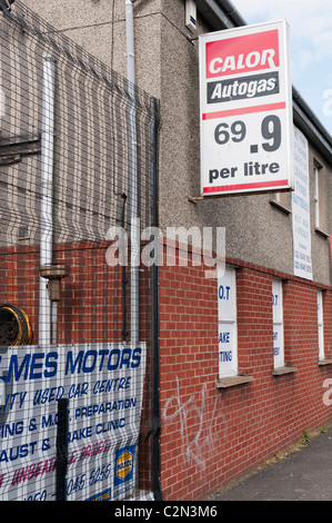 Sign showing the price of Autogas (LPG) - Stock Photo