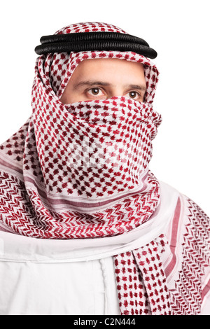Portrait of a young Arab wearing a turban - Stock Photo